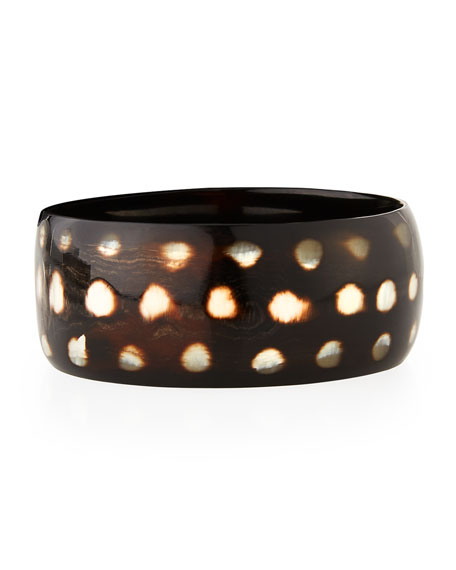NEST JEWELRY Spotted Horn Bangle Bracelet in Animal Print