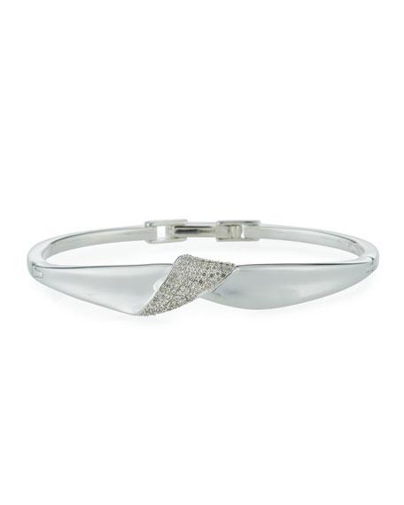 Ippolita Classico Stardust Silver Folded Bangle Bracelet w/