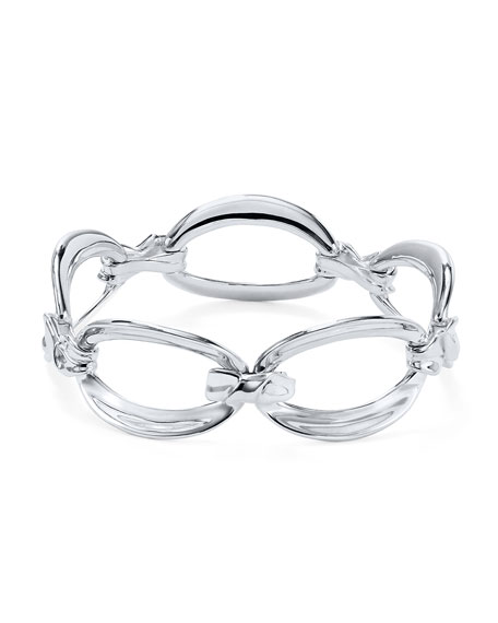 Ippolita Classico Silver Flexible Twisted Ribbon Chain Bracelet