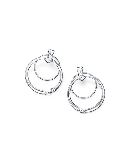 Ippolita Classico Silver Folded Door Knocker Earrings