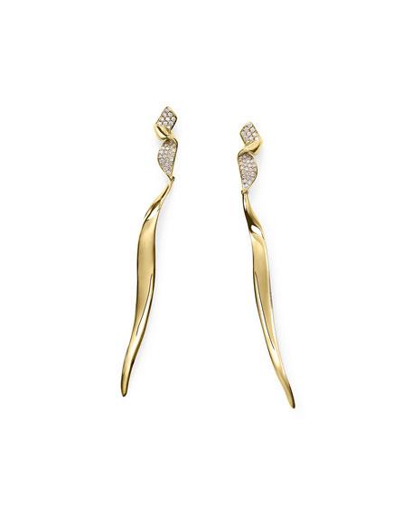 Ippolita 18k Gold Stardust Twist Ribbon Earrings w/