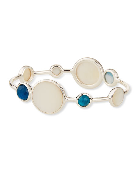 Ippolita Wonderland Silver Eight-Stone Bangle Bracelet in