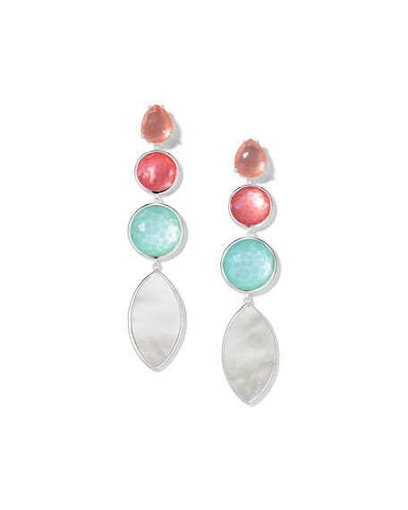 Wonderland 4-Stone Earrings in Moroccan Dust