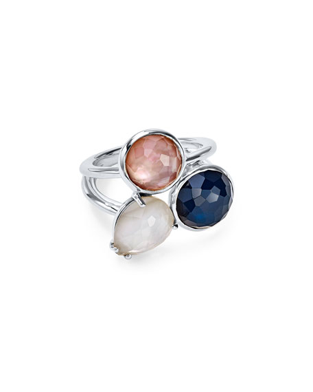 Ippolita Wonderland Overlap 3-Stone Ring in Moroccan Dust