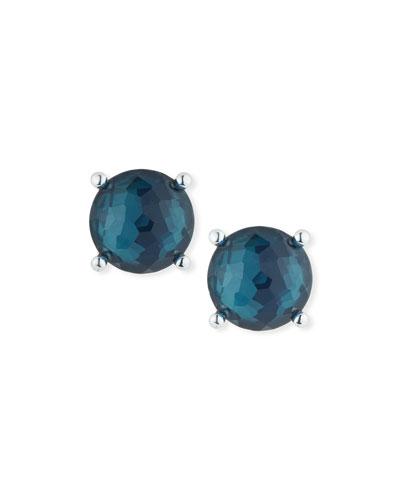 Silver Wonderland Clip-On Stud Earrings in Glacier Doublet
