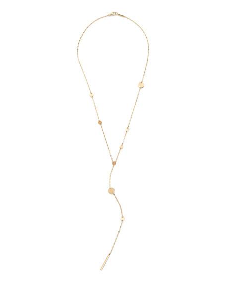 Lana 14k Gold Cleo Disc Y-Drop Lariat Necklace
