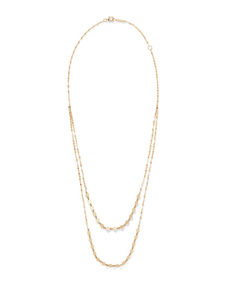 Lana Kite Remix 14k Gold Duo Layer Necklace