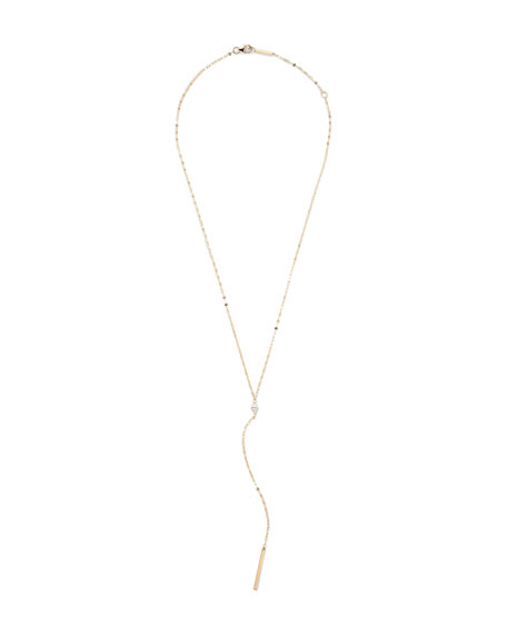 Lana 14k Gold Marquise Diamond Y-Drop Necklace