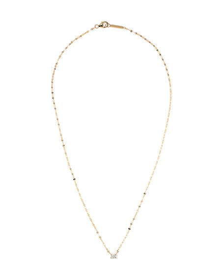 Lana 14k Gold Emerald-Cut Diamond Pendant Necklace