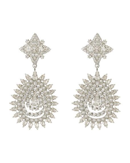 Dannijo Lea Crystal & Pearly Statement Earrings