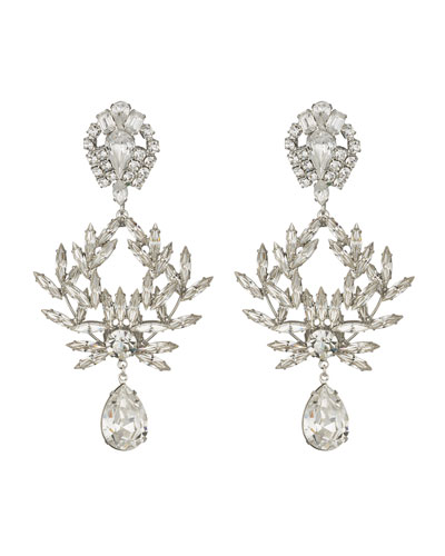 Clover Crystal Clip-On Earrings