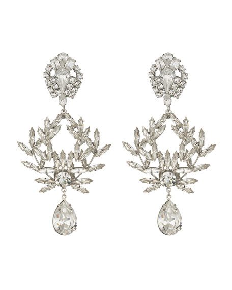 Dannijo Clover Crystal Clip-On Earrings