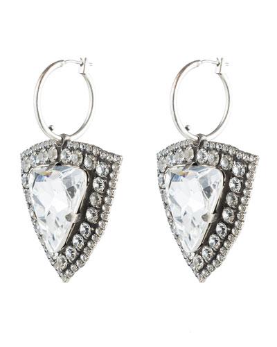Portner Crystal Hoop Drop Earrings