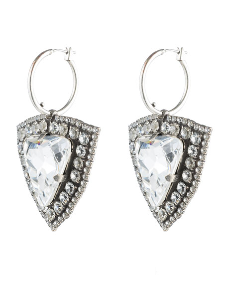 Dannijo Portner Crystal Hoop Drop Earrings