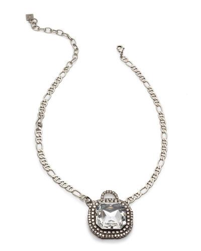 Cyclamen Crystal Pendant Necklace