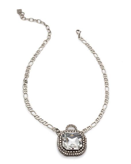 Dannijo Cyclamen Crystal Pendant Necklace