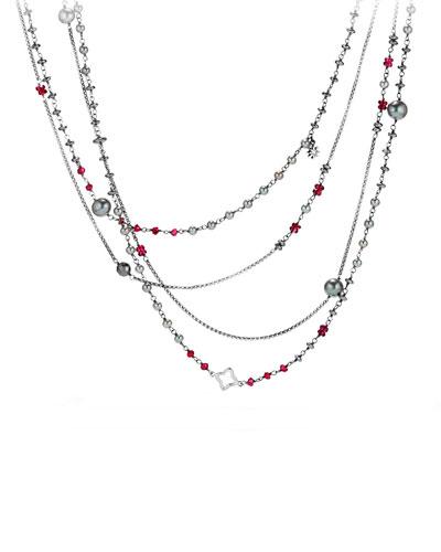 Bijoux Oceanica Two-Row Pearl & Hematine Necklace, 42