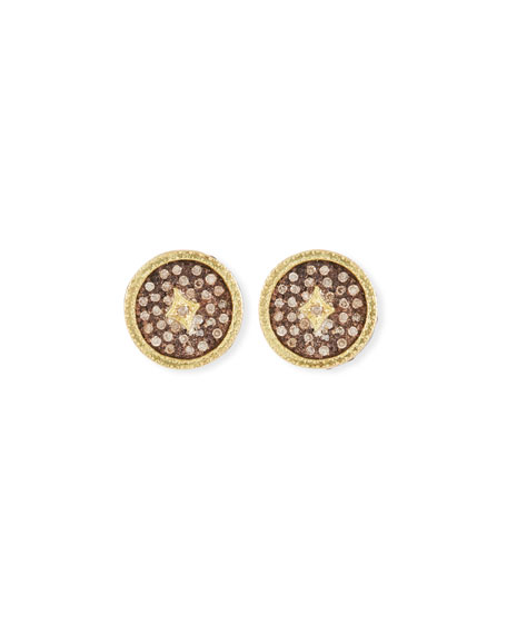 Armenta Old World Diamond Pave Stud Earrings