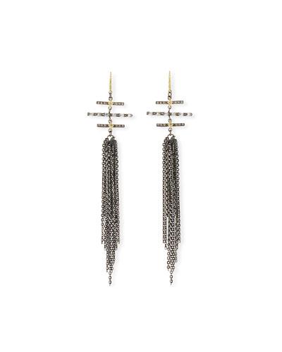 Old World Multi-Bar & Chain Earrings