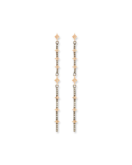Armenta NEW WORLD DIAMOND CRIVELLI BAR EARRINGS
