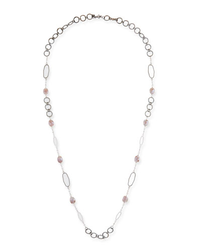 New World Rose Bead & Link Necklace