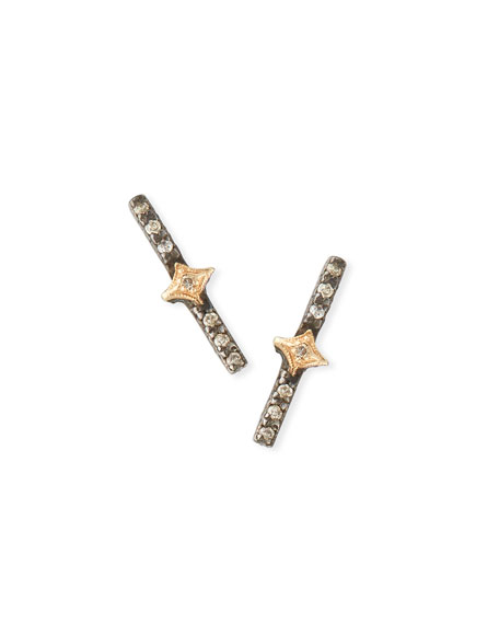Armenta New World Crivelli Bar Stud Earrings