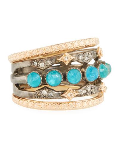 New World Multi-Band Ring, Size 7
