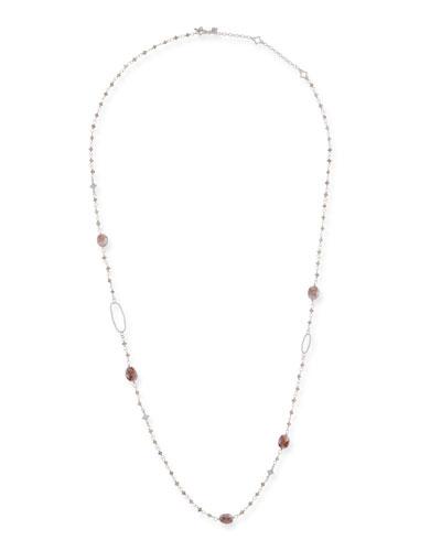 New World Rose Bead & Crivelli Necklace