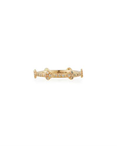 New World 14k Diamond Crivelli Cross Band Ring, Size 6.5