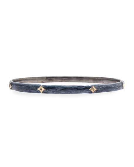 Armenta New World Diamond Crivelli & Enamel Bangle