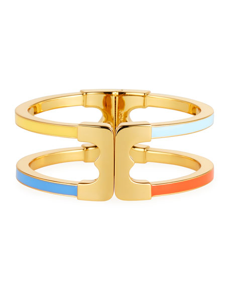 Tory Burch Gemini Link Enamel Hinge Bracelet