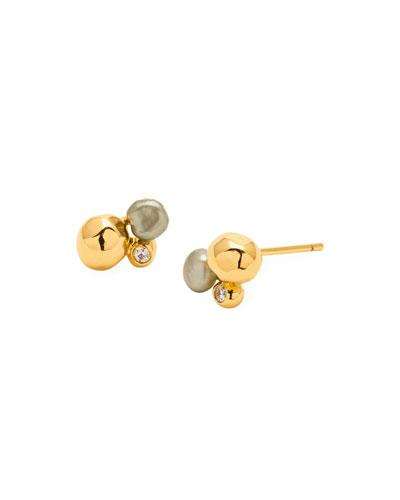 Vienna Shimmer Stud Earrings