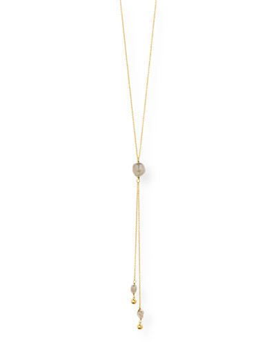 Vienna Adjustable Pearl Lariat Necklace