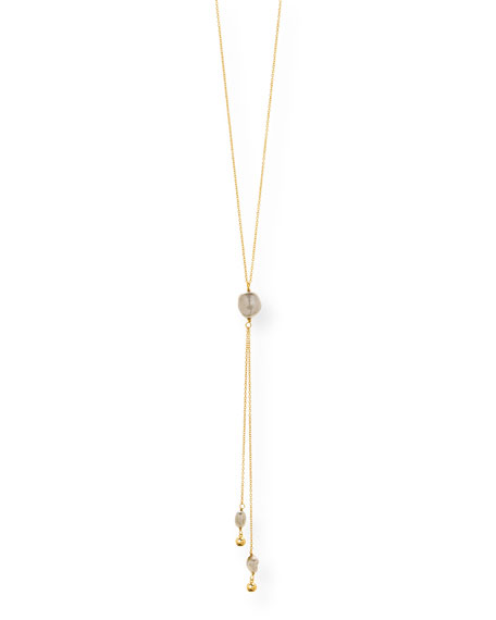 gorjana Vienna Adjustable Pearl Lariat Necklace
