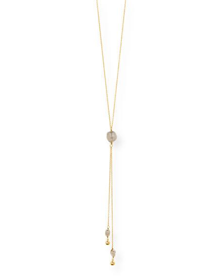 gorjana Vienna Adjustable Pearl Lariat Necklace