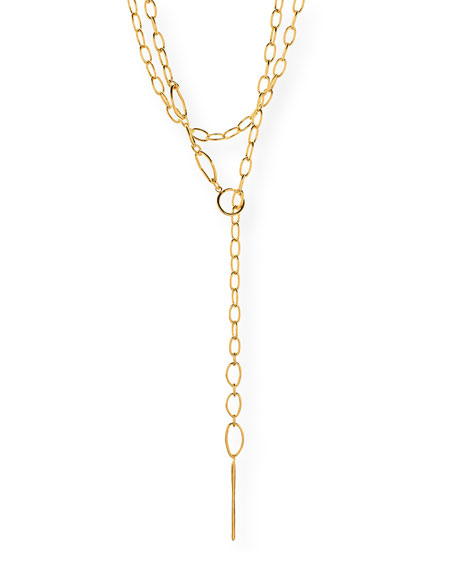 Rowan Long Threading Lariat Necklace