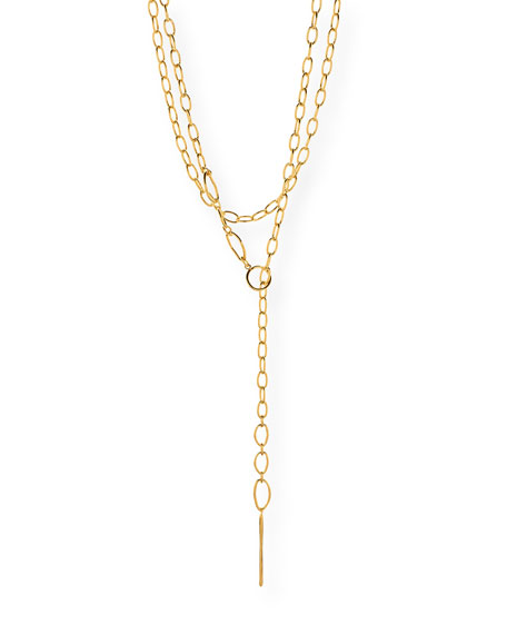 gorjana Rowan Long Threading Lariat Necklace
