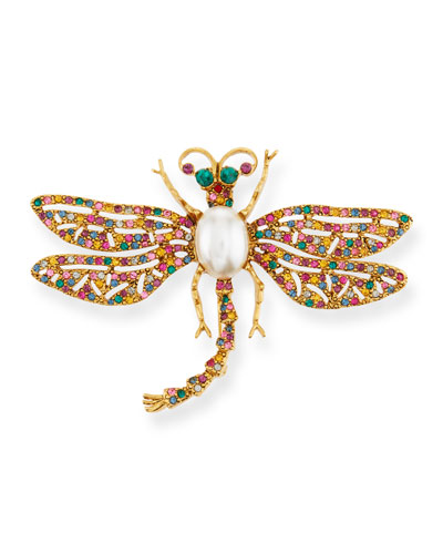 Multicolor Fiesta Dragonfly Pin