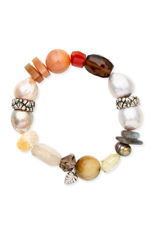 Stephen Dweck Multi-Stone Stretch Bracelet