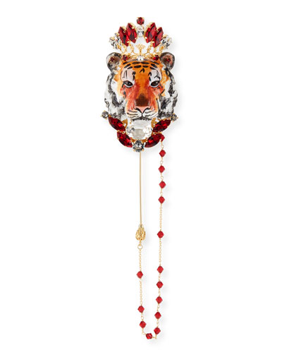 Tiger Crystal Pin