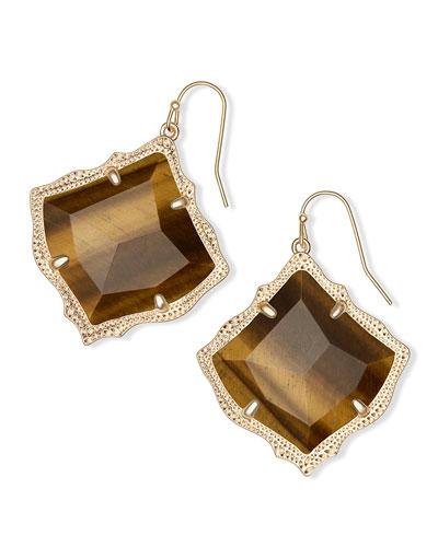 Kirsten Drop Earrings in Yellow Gold Plate