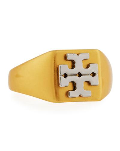 Block T Logo Ring