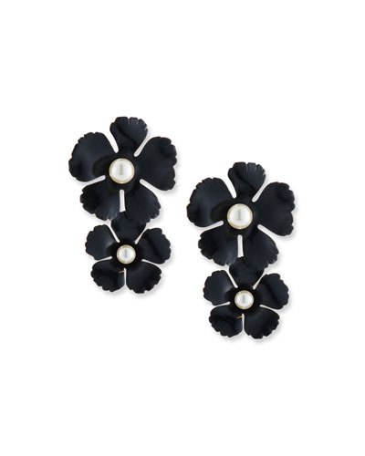 Coco Pearly Flower Drop Earrings