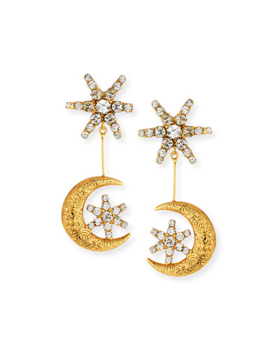 Atlas Star & Moon Drop Earrings