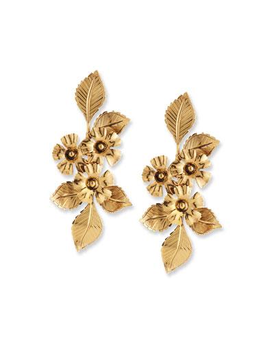 Cynthia Flower Drop Earrings