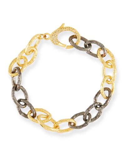 Two-Tone & Diamond Chain-Link Bracelet