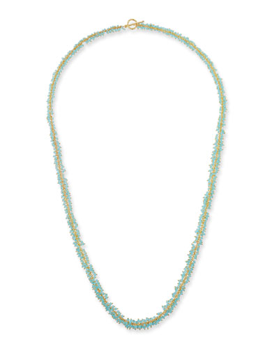 Chalcedony Cluster Necklace