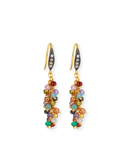 MARGO MORRISON Multi-Stone Cluster Dangle Earrings