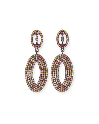 Multicolor Tourmaline Loop Earrings