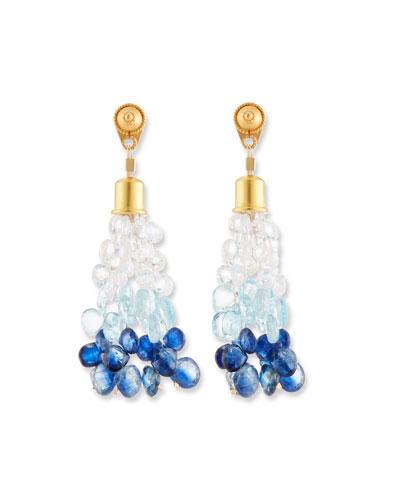 Ombre Stone Briolette Dangle Earrings